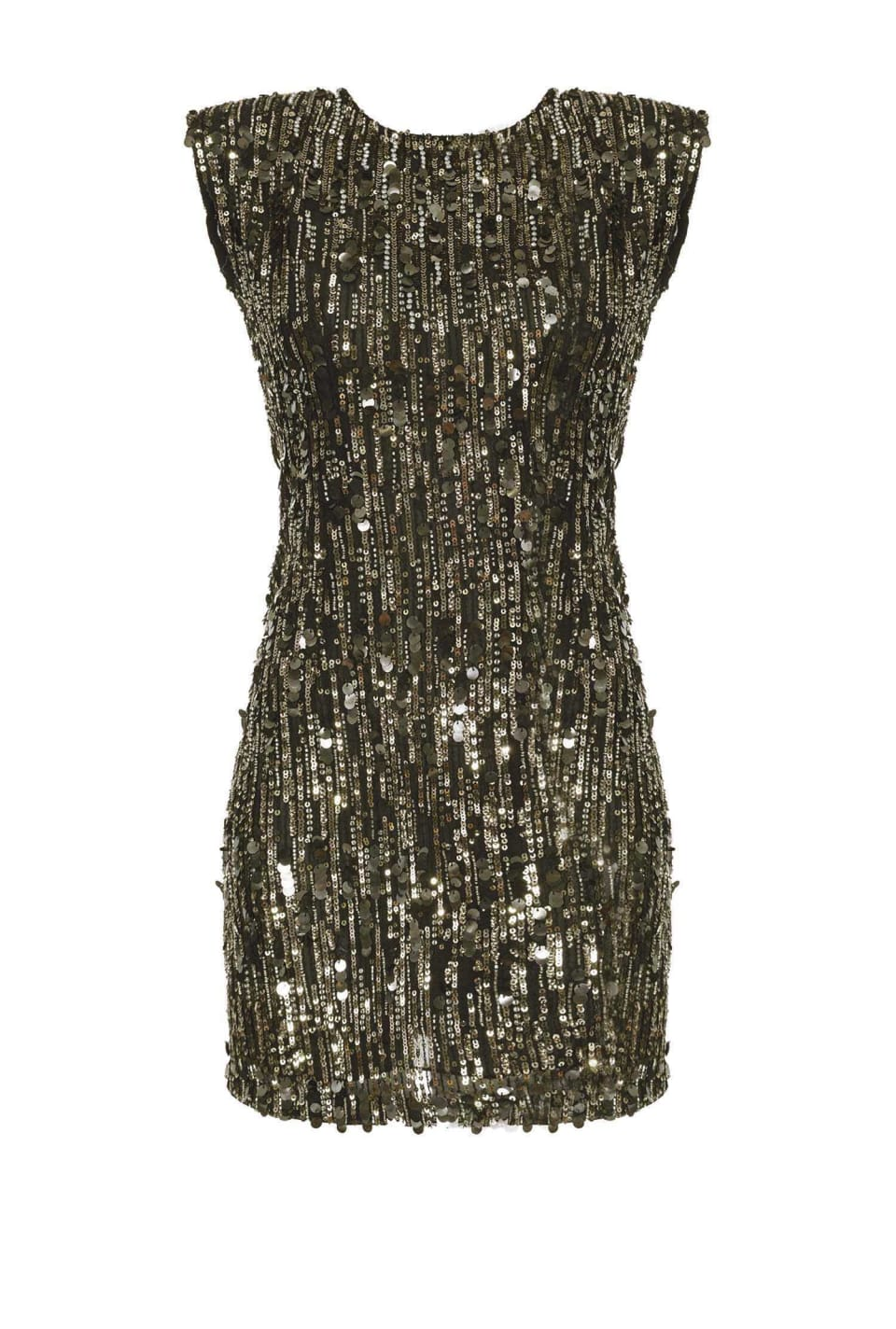 Sequinned dress with bare back