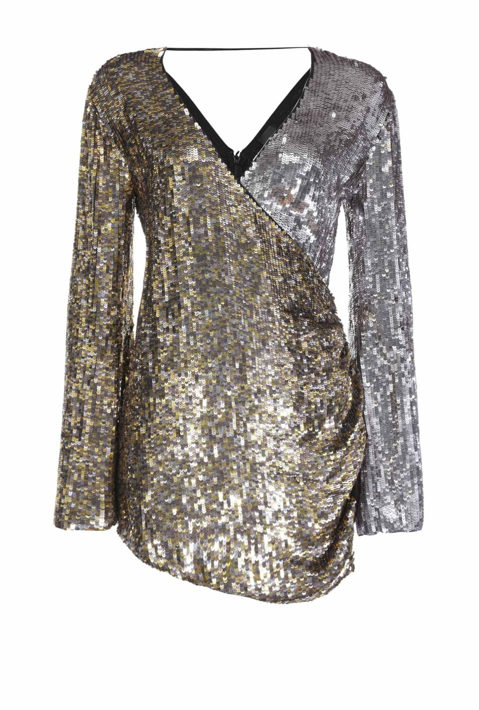 Mini dress with all-over sequins