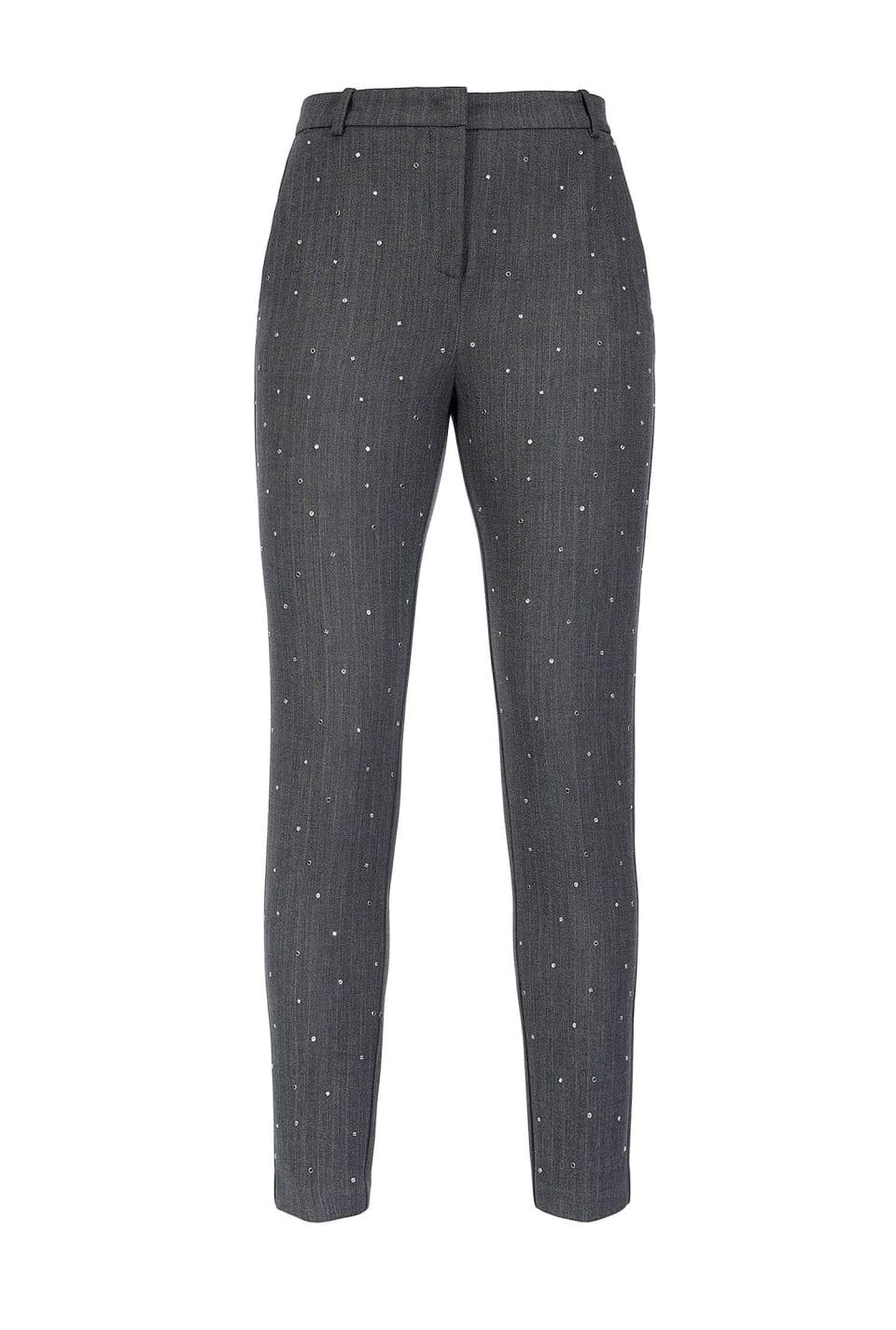 Pantaloni disegno resca con borchie