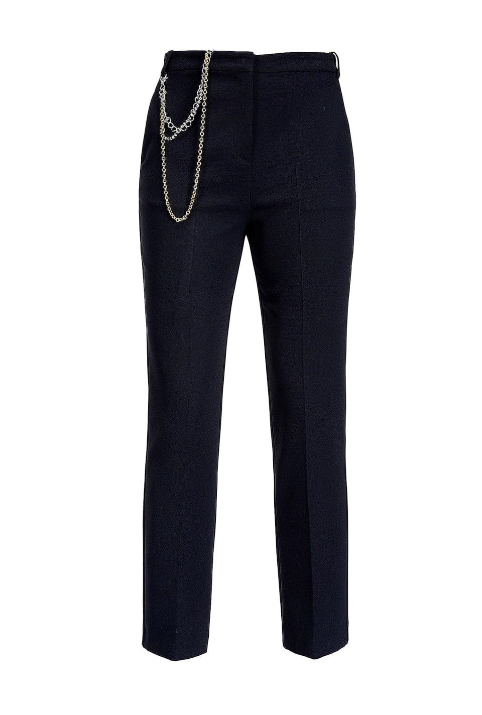 Pantaloni con catena gioiello