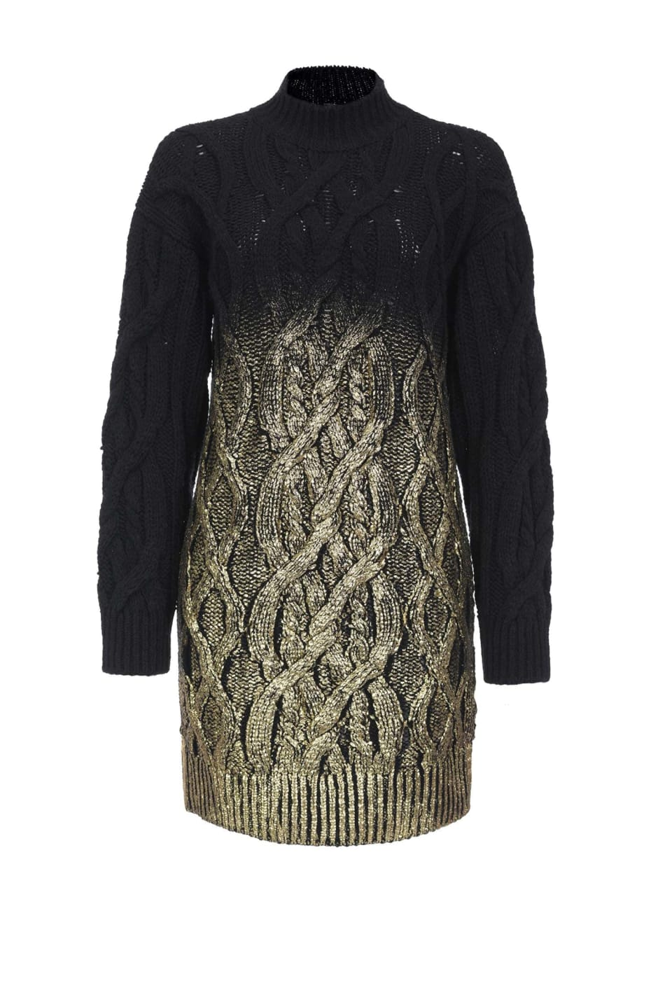 Metallic knit dress
