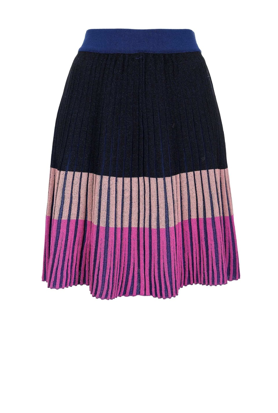 Skirt in colour block knit