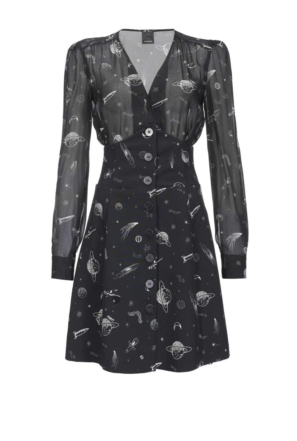 Dress with planets print