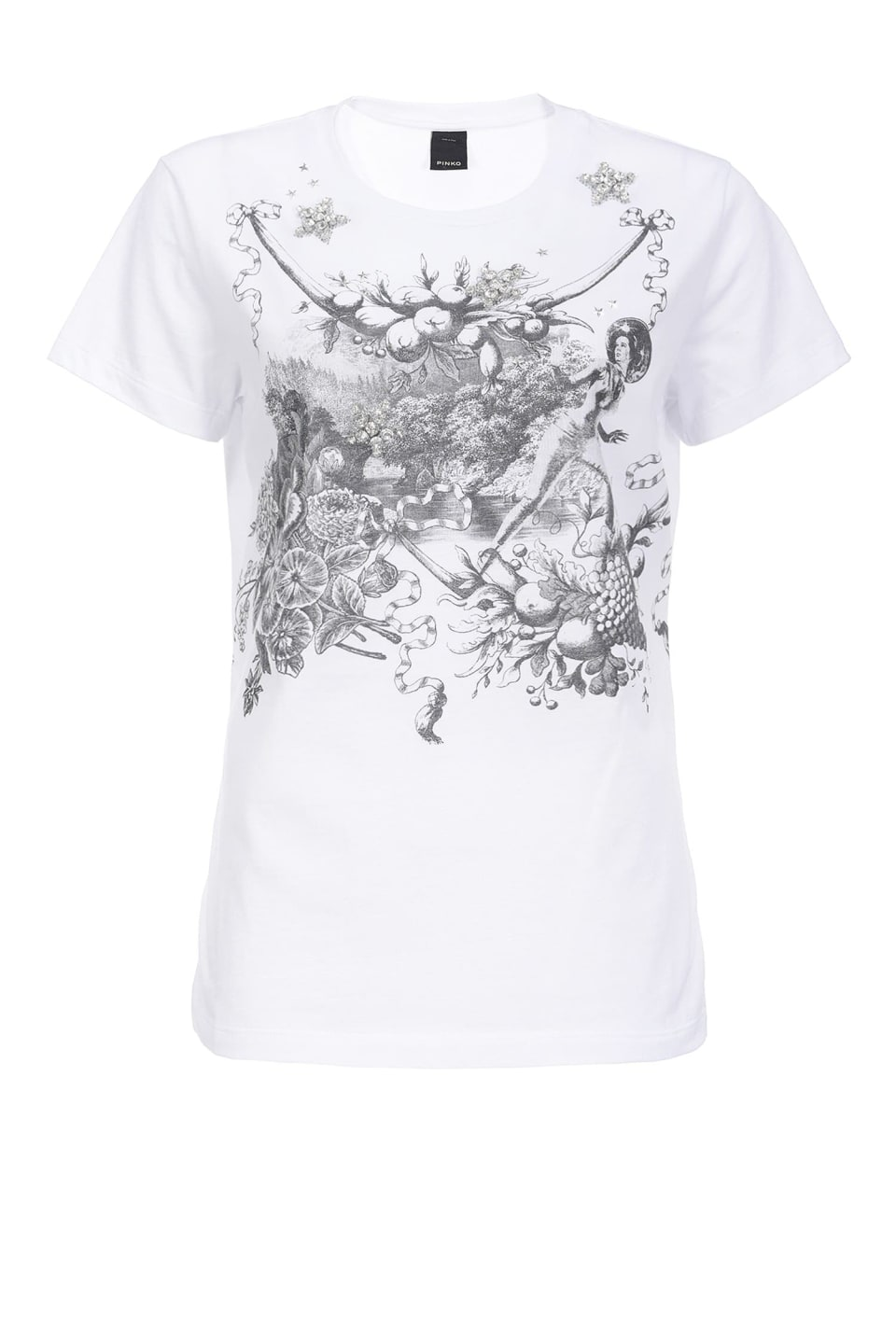 T-shirt with Toile de Jouy Space print
