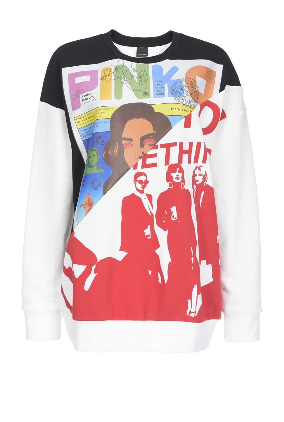 Sweatshirt with double print
