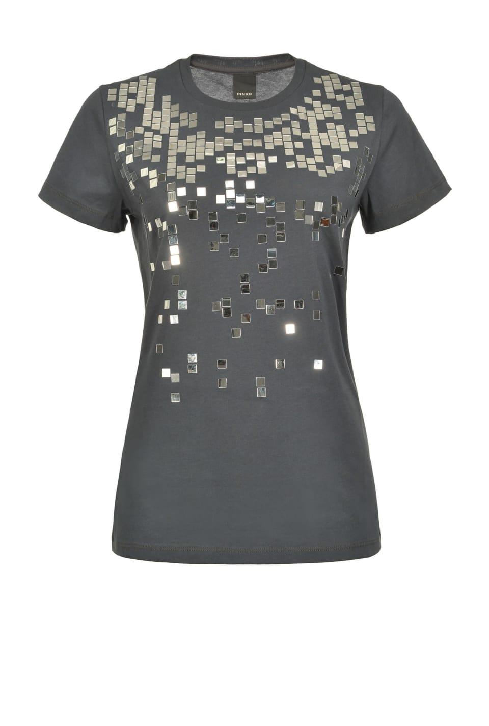 Camiseta con pequeños espejos