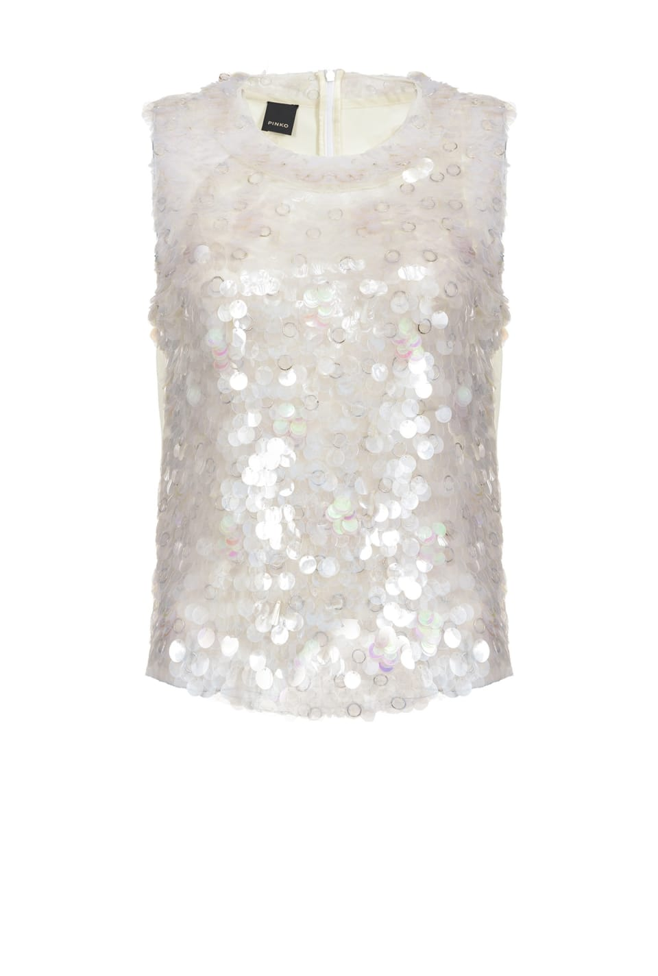 Top iridescente full paillettes