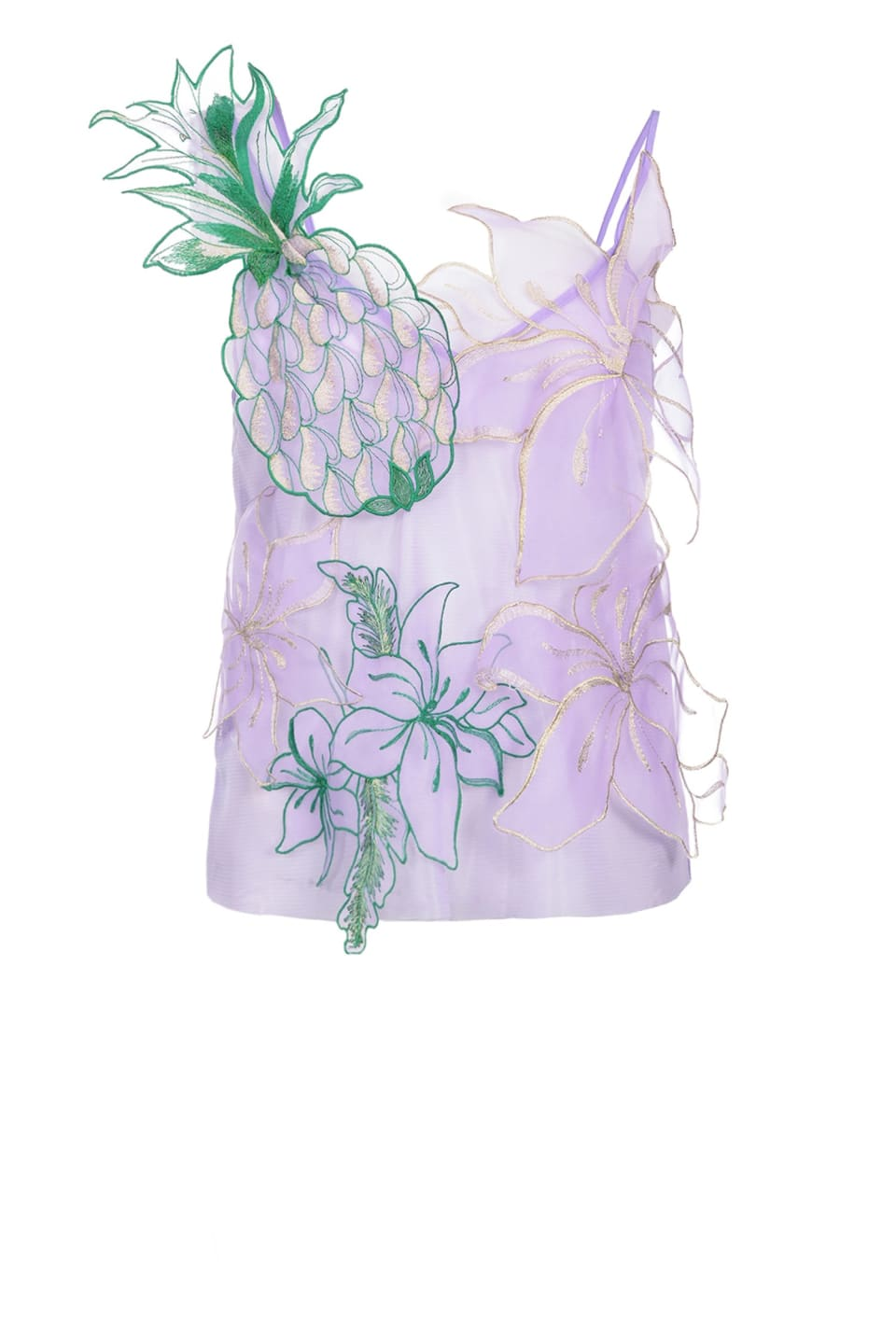 Top with flowers and pineapples