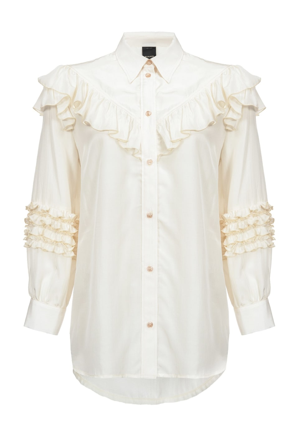 Shirt with ruffles
