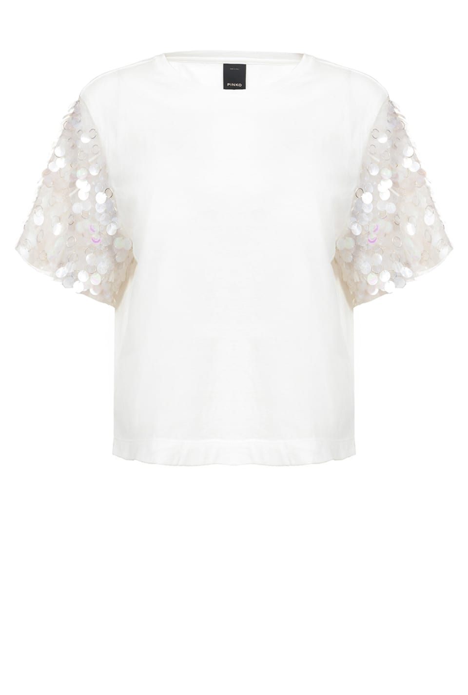 T-shirt con maxi paillettes