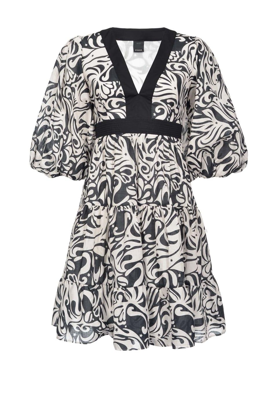 日式印花连衣裙