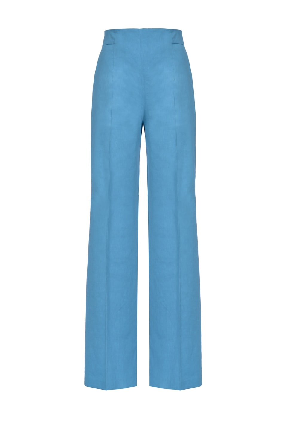 Palazzo trousers in linen and viscose cloth