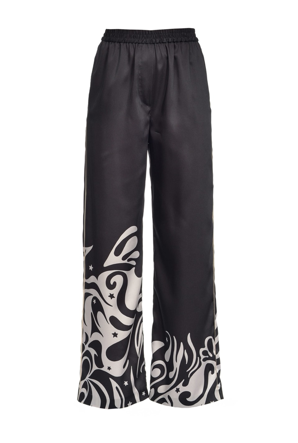 Japan print wide trousers