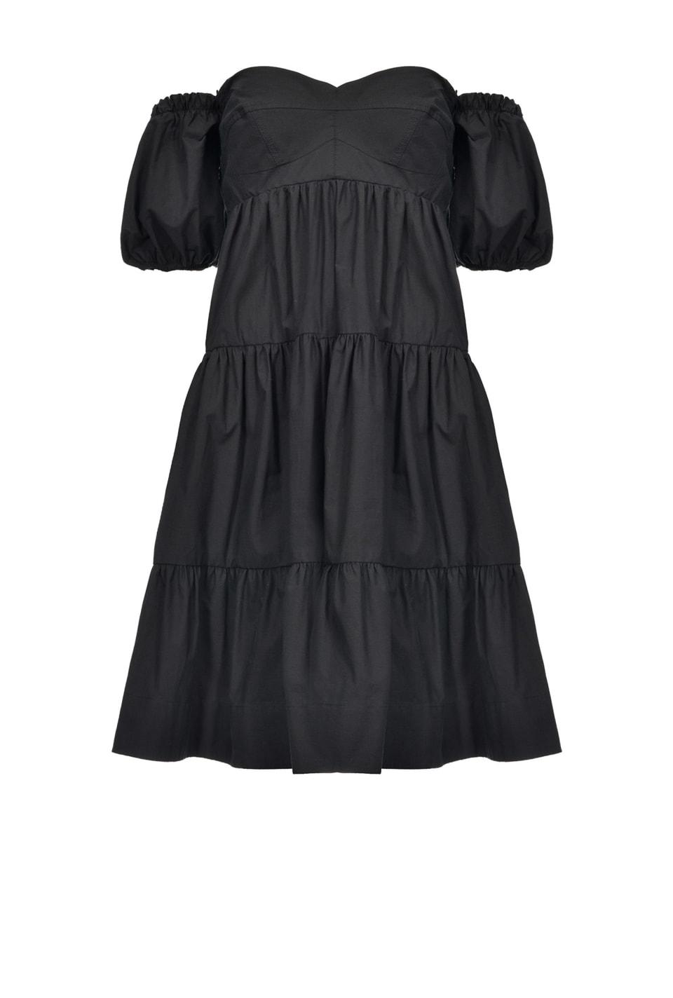 Robe courte volantée
