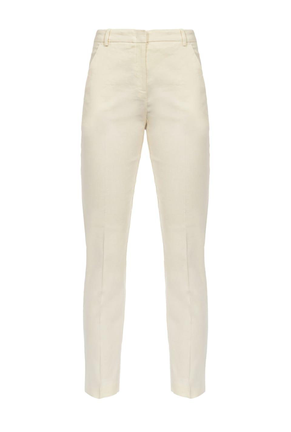 Cigarette-fit trousers in cloth