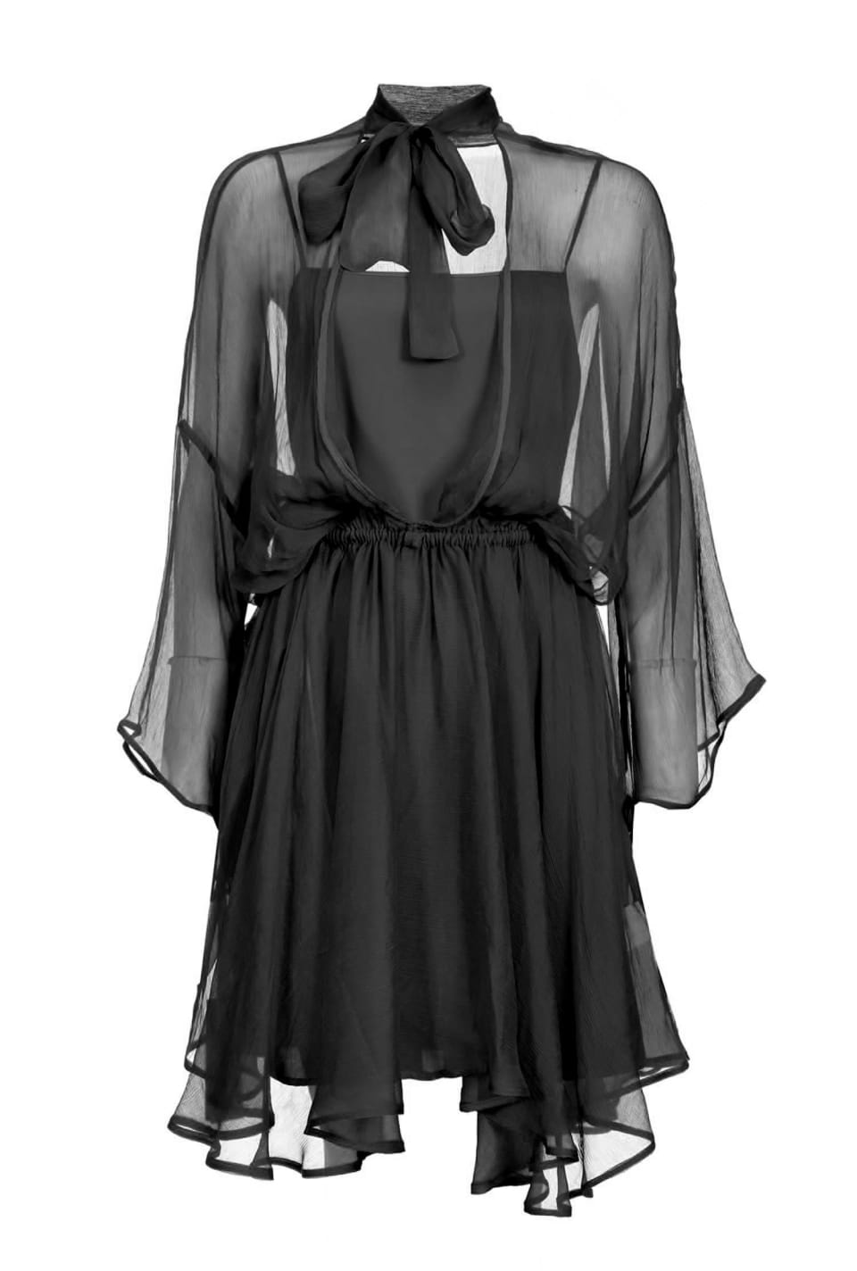 Supple dress in silk