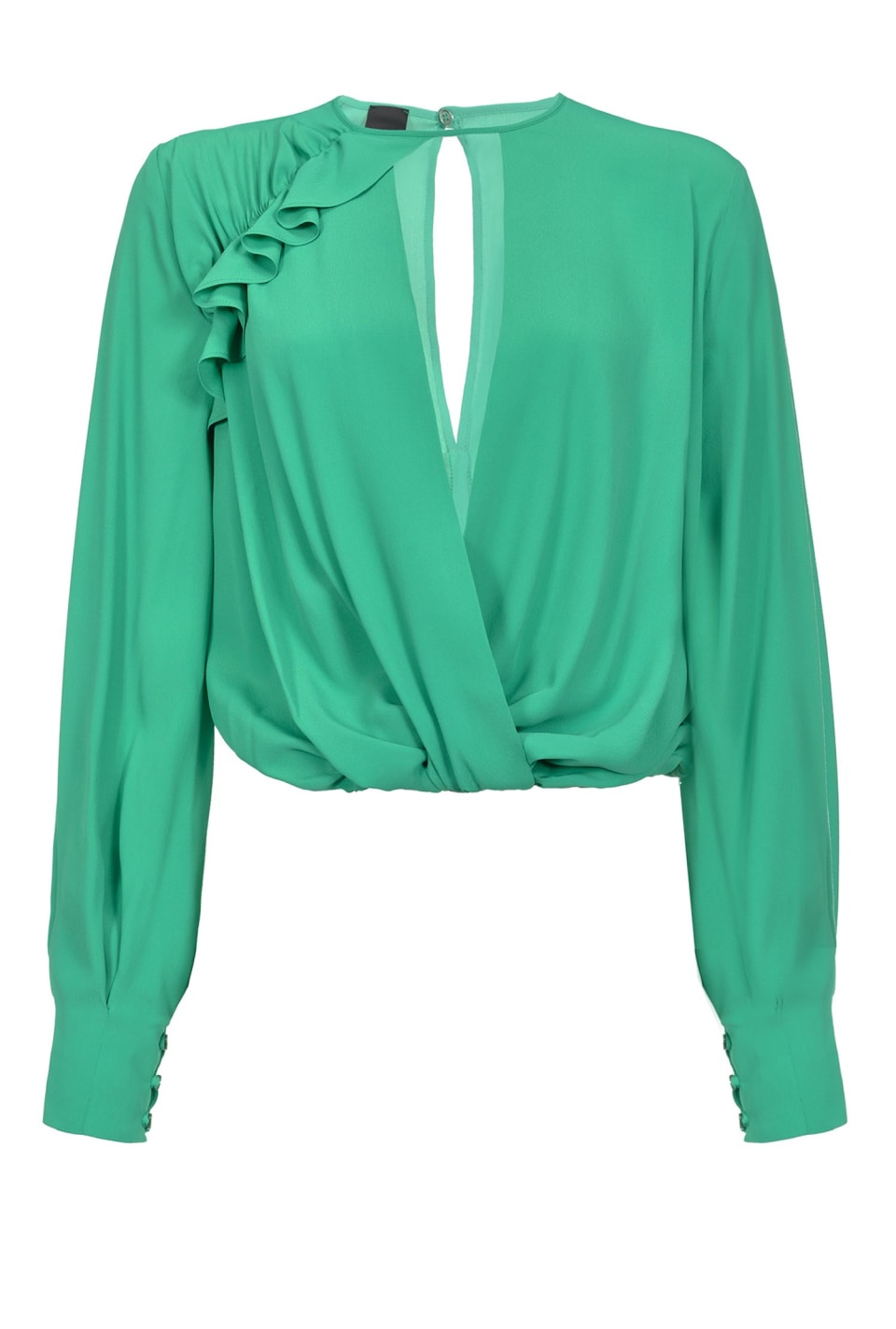 Blouse with ruffle