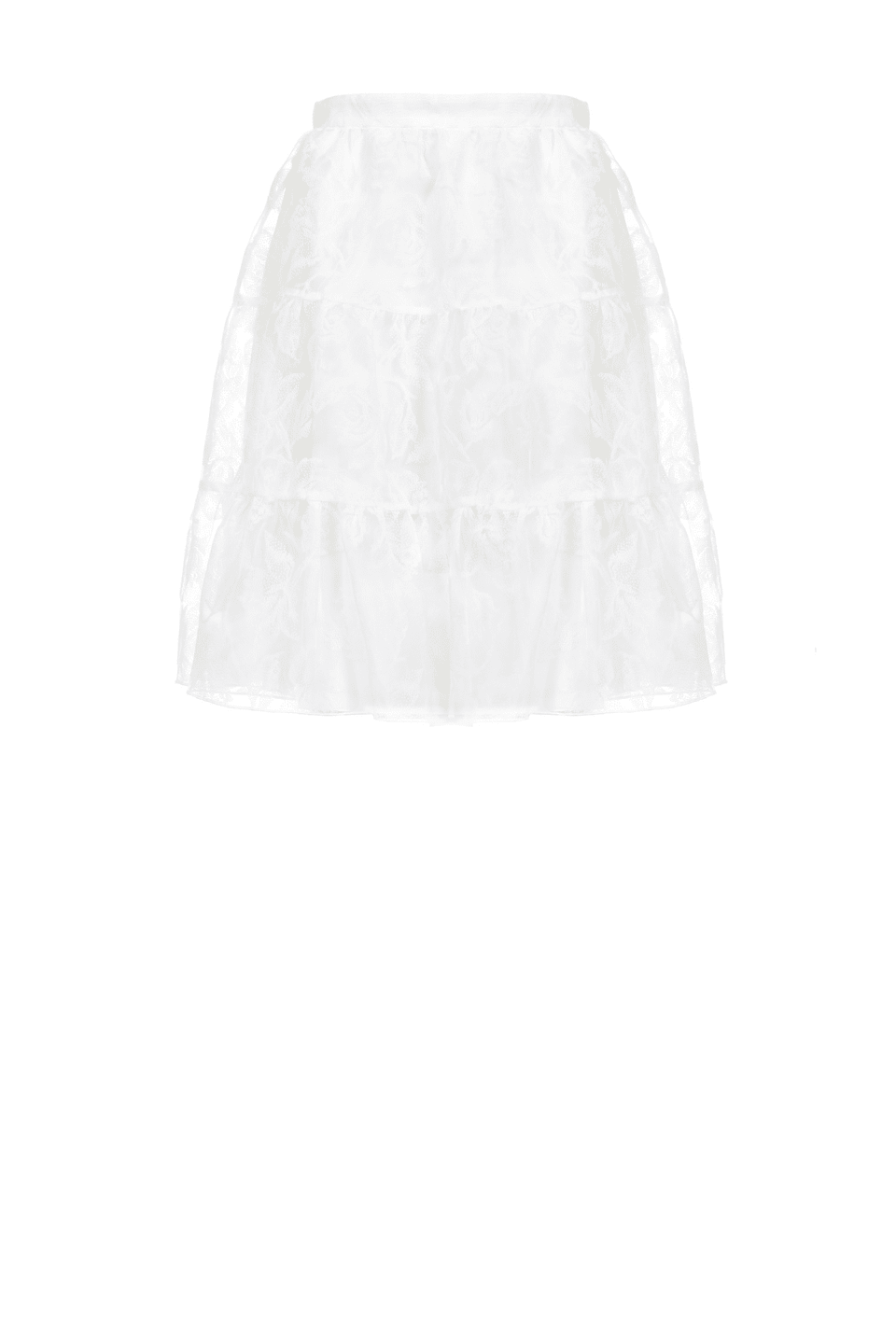 Mini skirt in flock print organza
