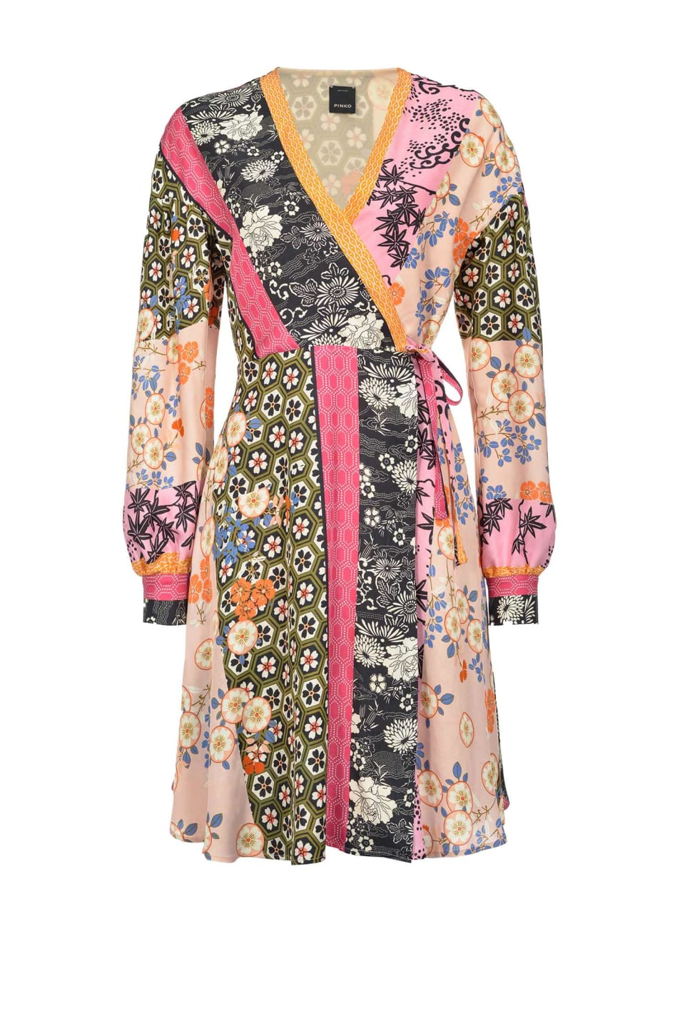 Short Japan print mixture dress