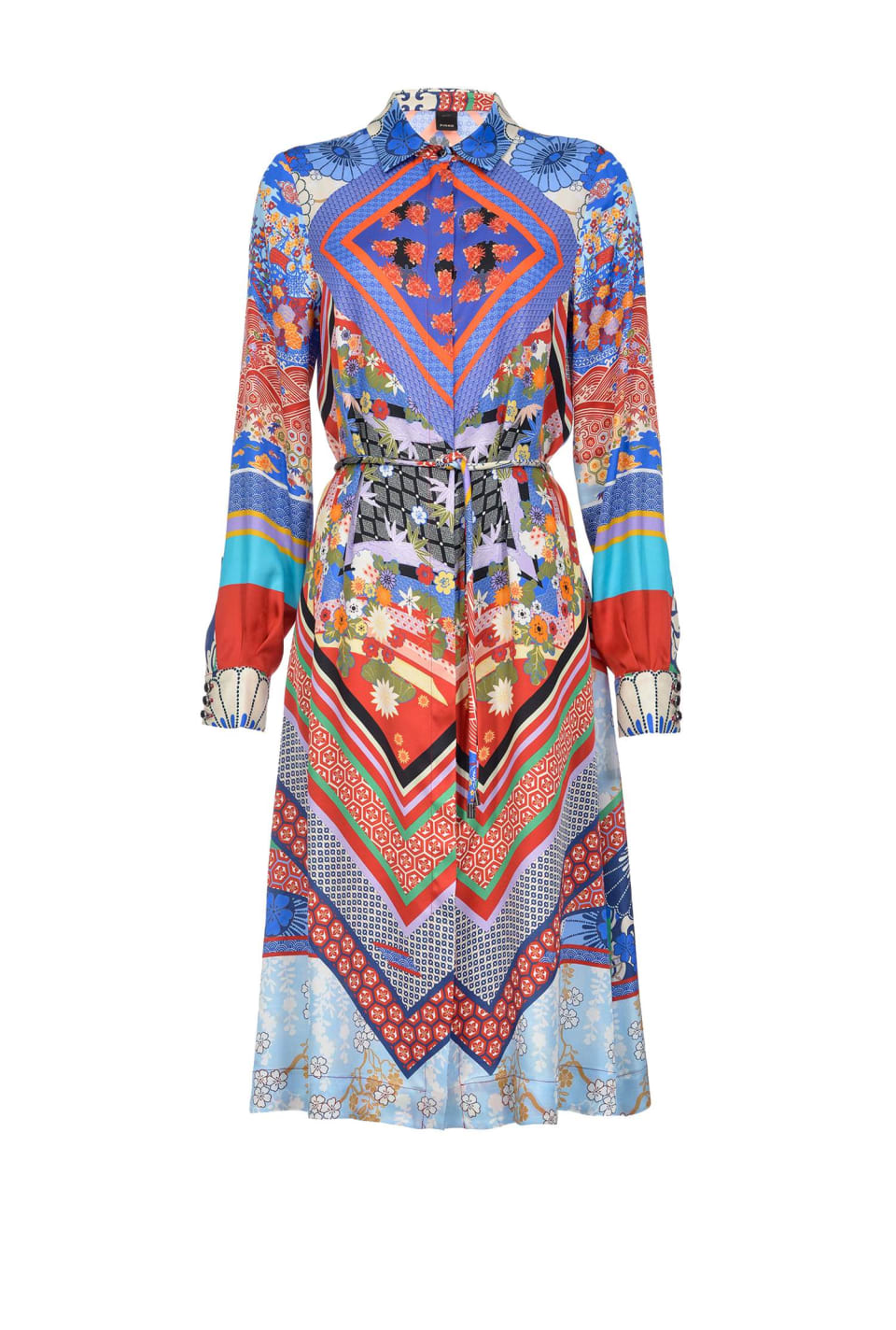 Midi orient print shirtdress