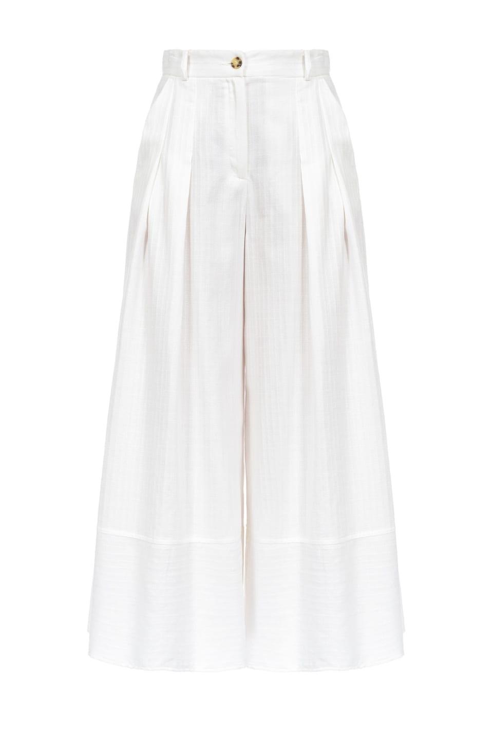 Cotton palazzo trousers
