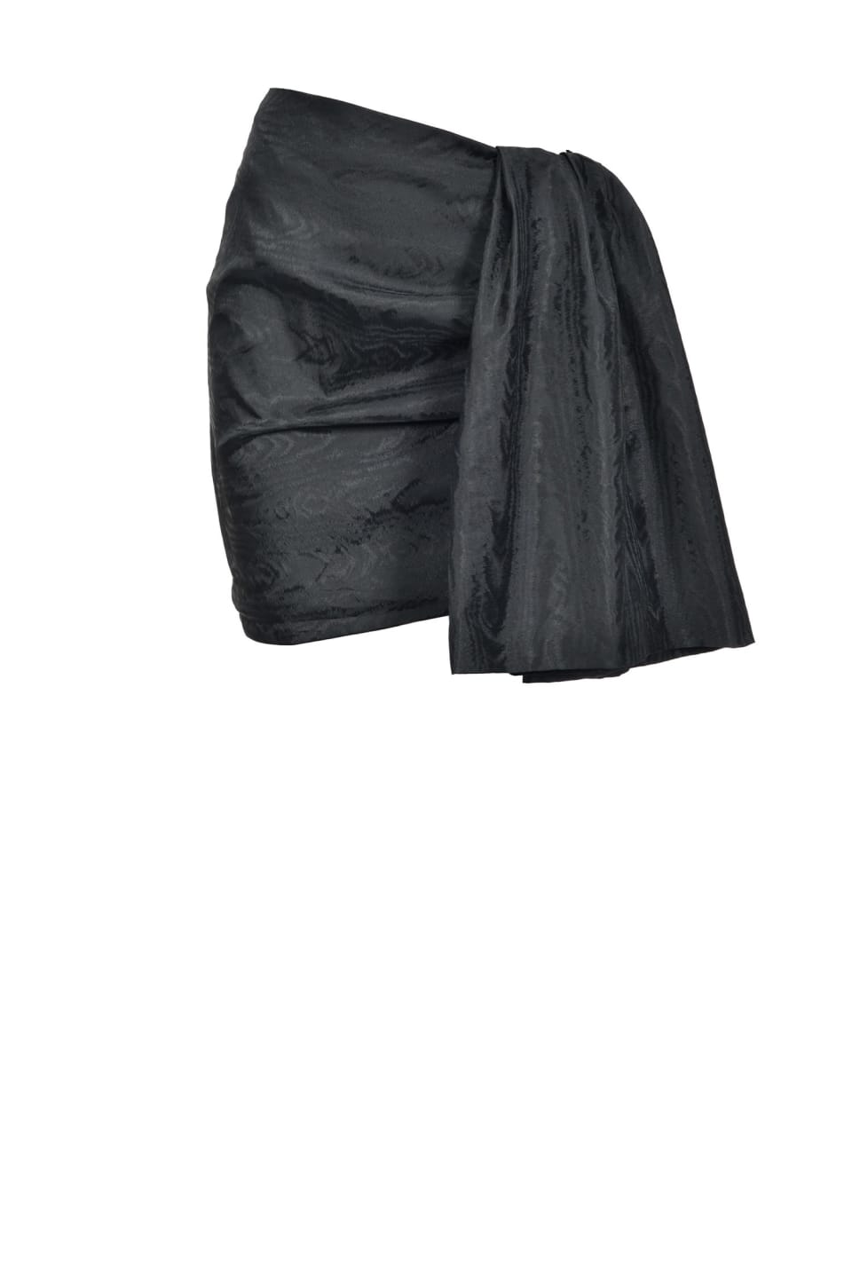 Mini skirt in moiré taffeta