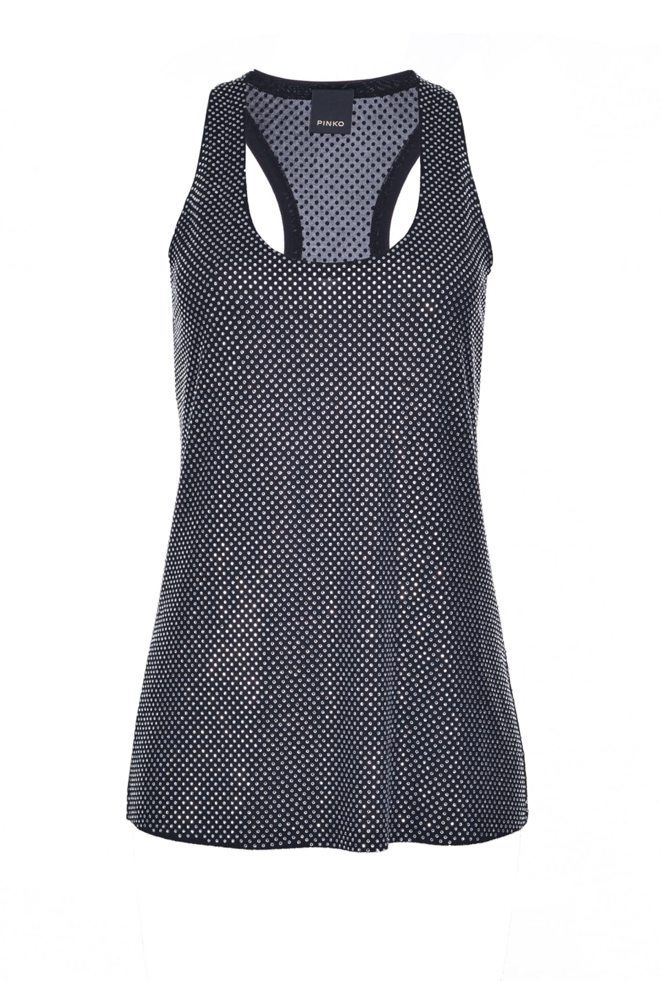 Full-rhinestone tank top