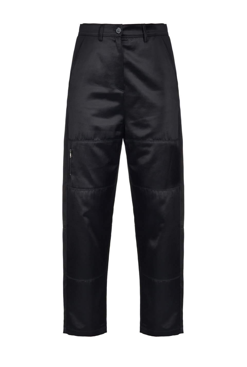 Biker trousers in satin