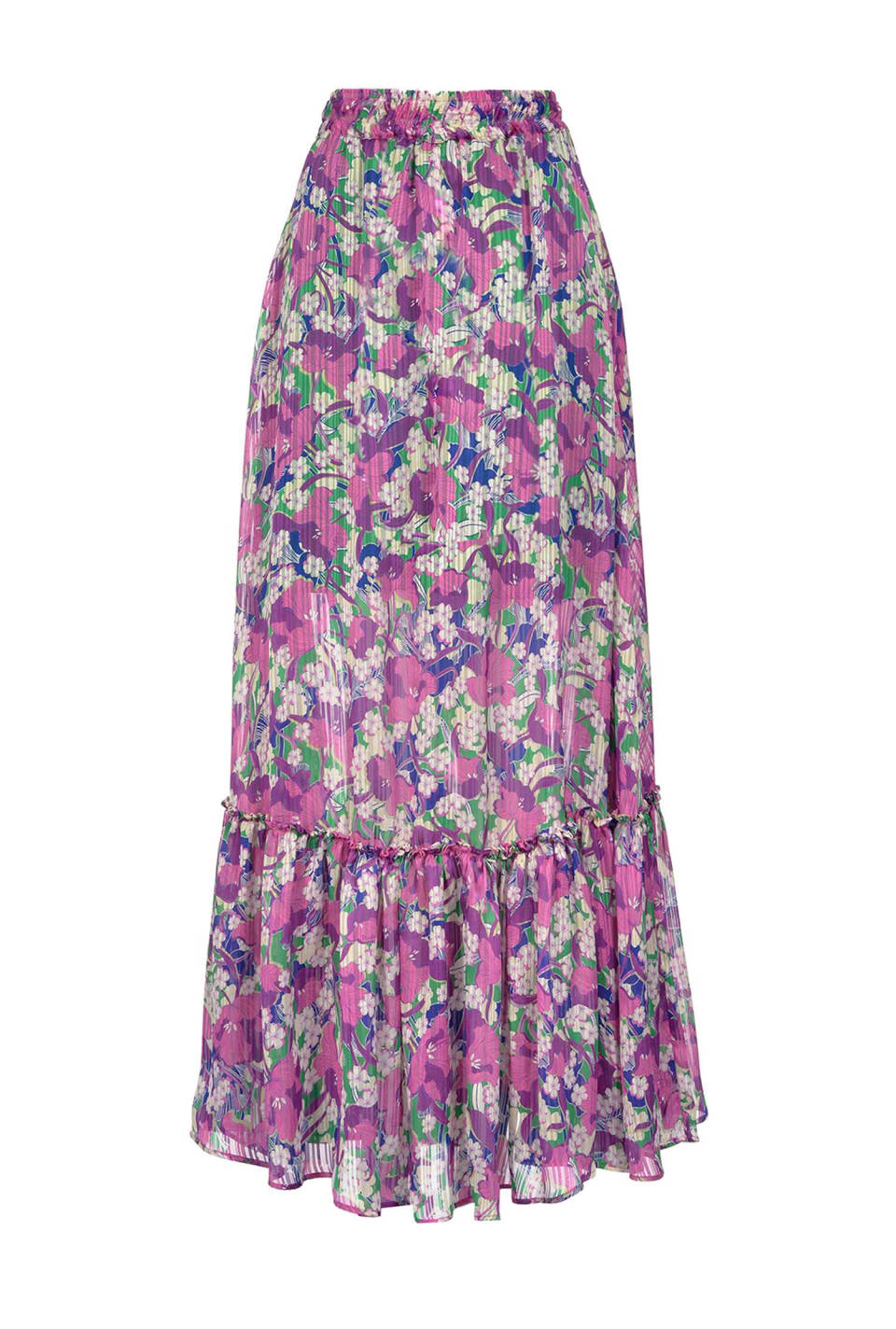 花朵图案长半身裙