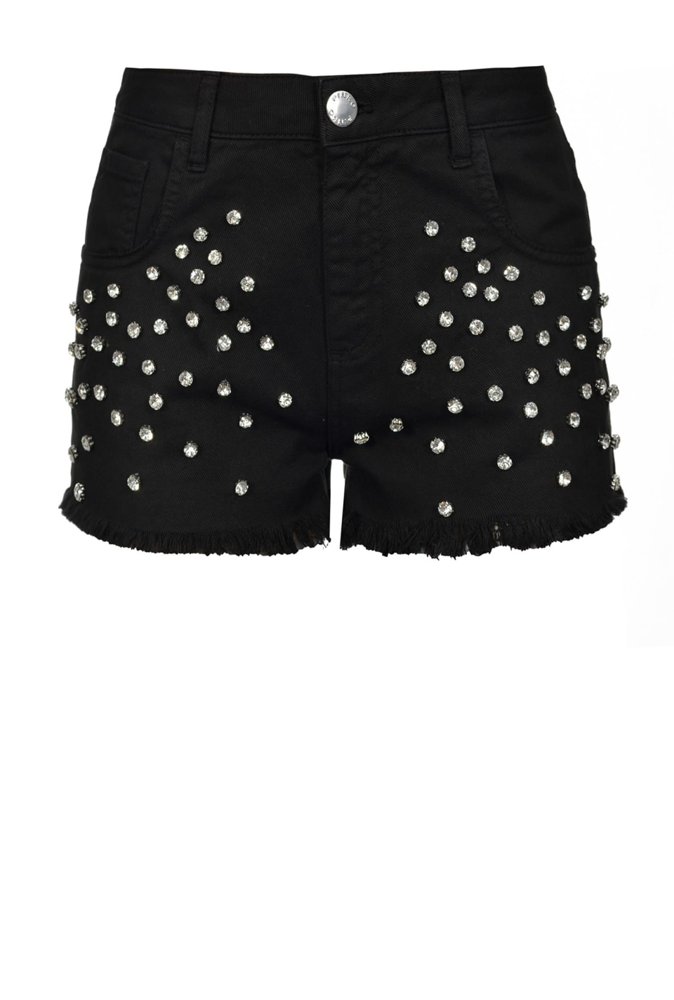 Shorts with rhinestones