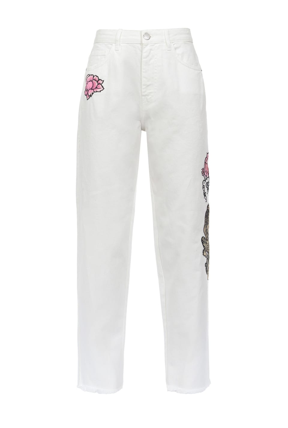 Trousers with tiger embroidery - Pinko