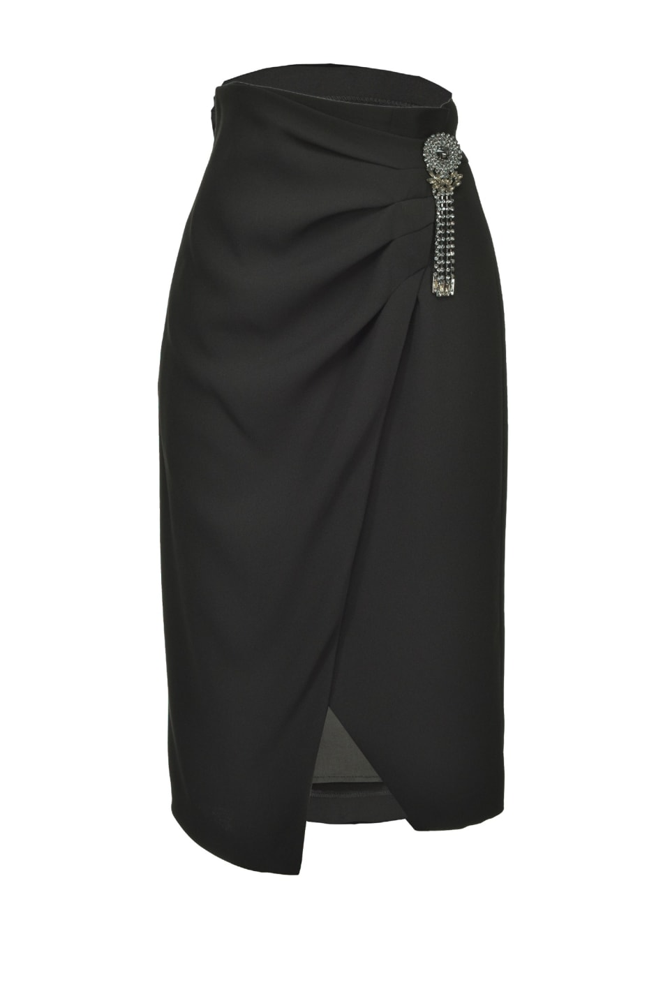 配针饰中长半身裙