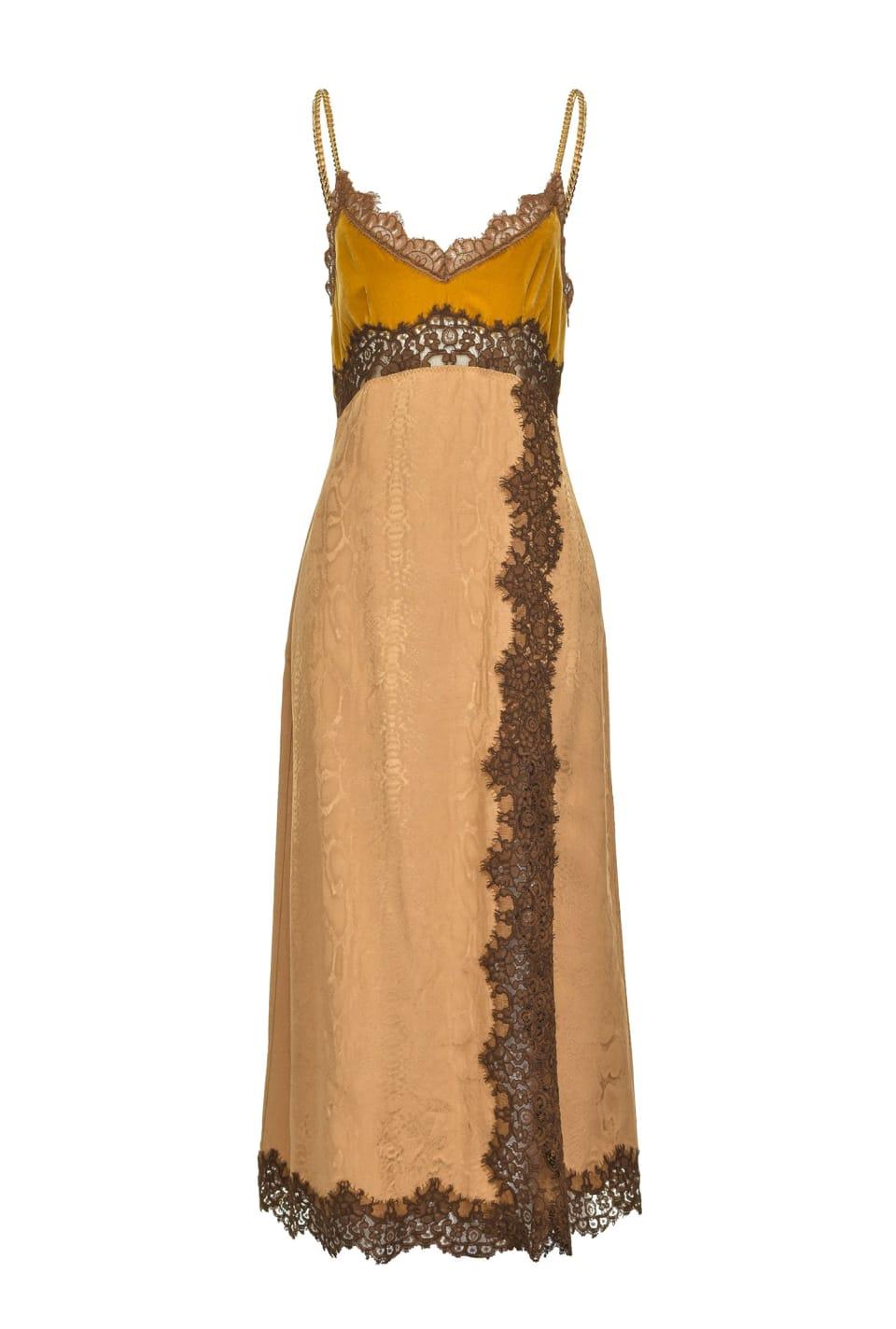 蟒蛇纹图案提花睡衣式连衣裙 - Pinko
