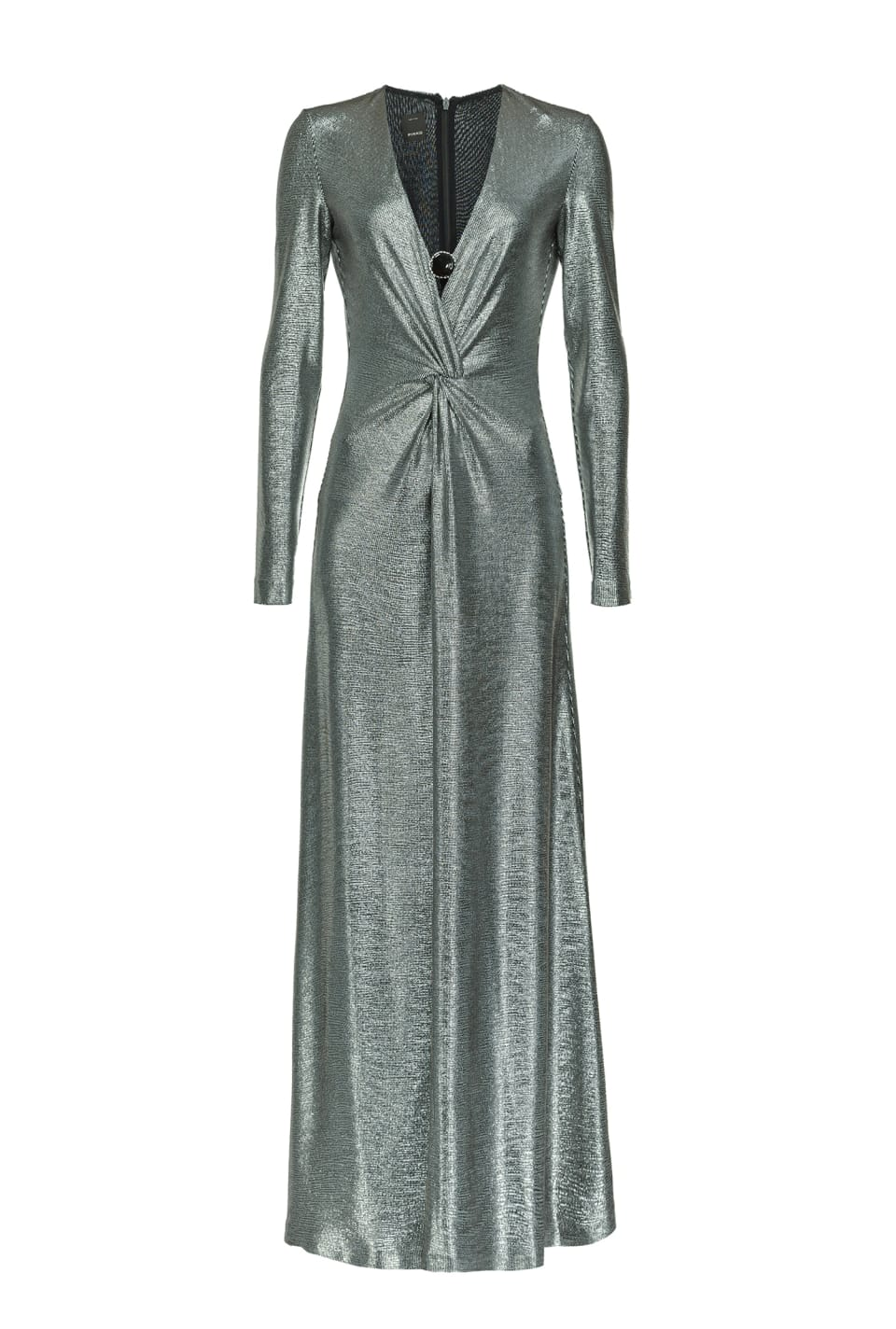 Long dress in laminated jersey - Pinko