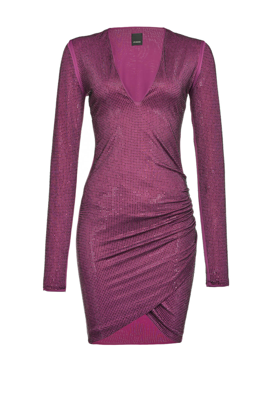 Figure-hugging dress with full rhinestones - Pinko