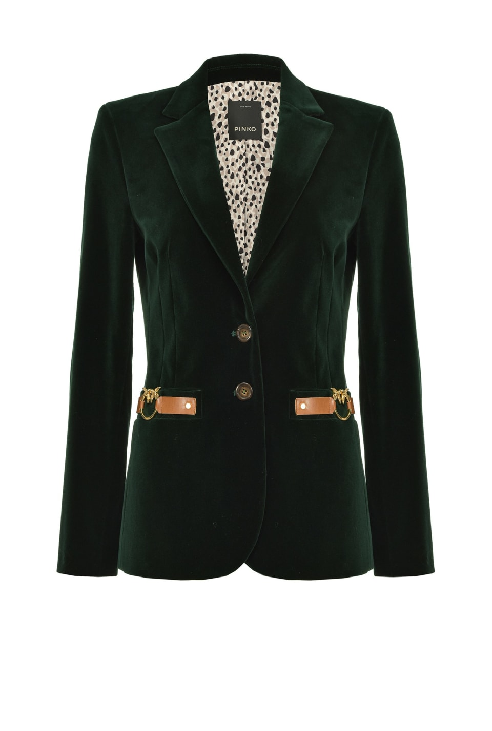 Velvet blazer with Love Birds buckle - Pinko