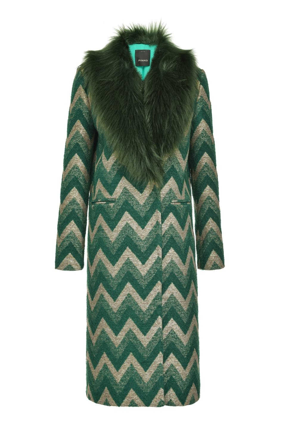 Cappotto in jacquard chevron - Pinko