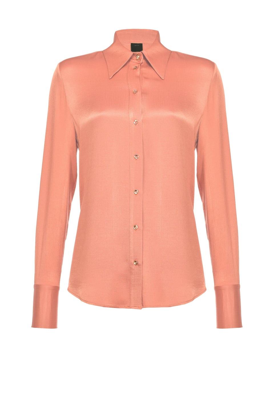 起褶缎面流动感衬衫 - Pinko