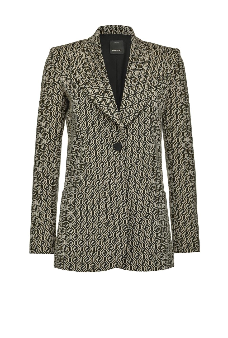 1970s long jacquard blazer - Pinko