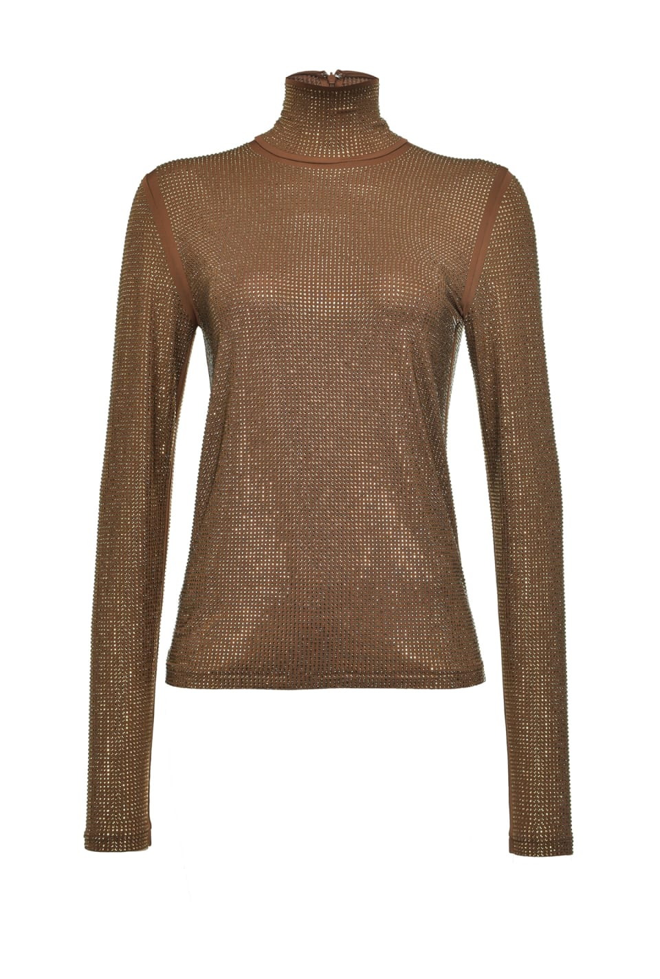 Full rhinestone turtleneck - Pinko