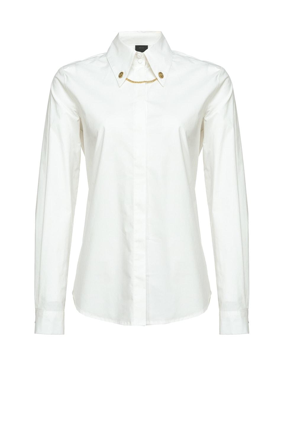 链扣装饰衣领衬衫 - Pinko