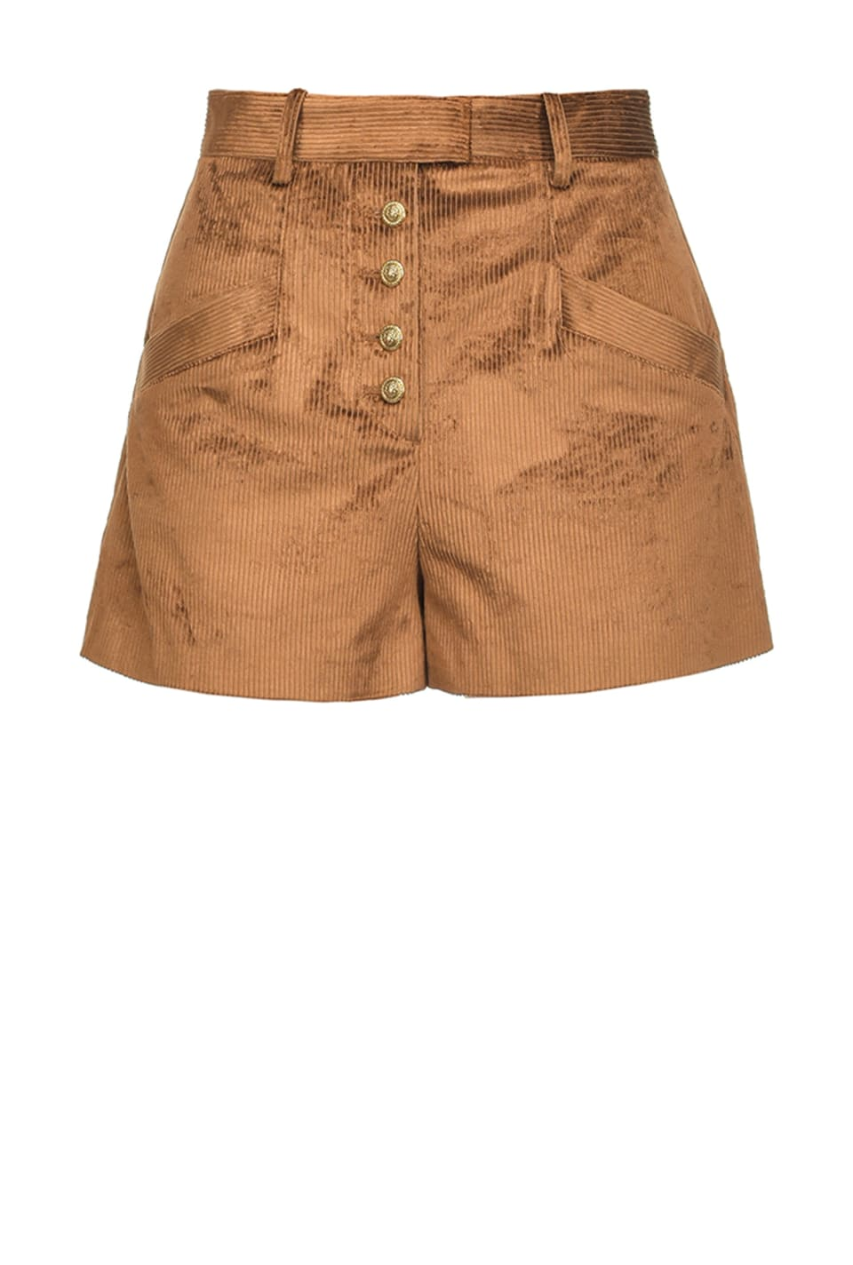 Corduroy loose-fitting shorts - Pinko