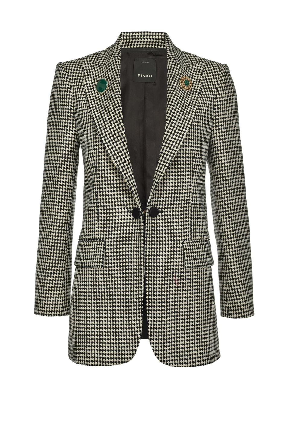 Houndstooth blazer with cufflinks - Pinko