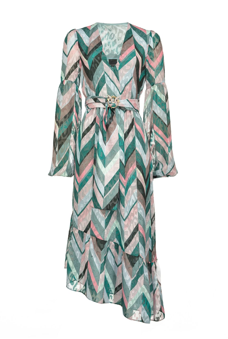 Chevron striped dress - Pinko