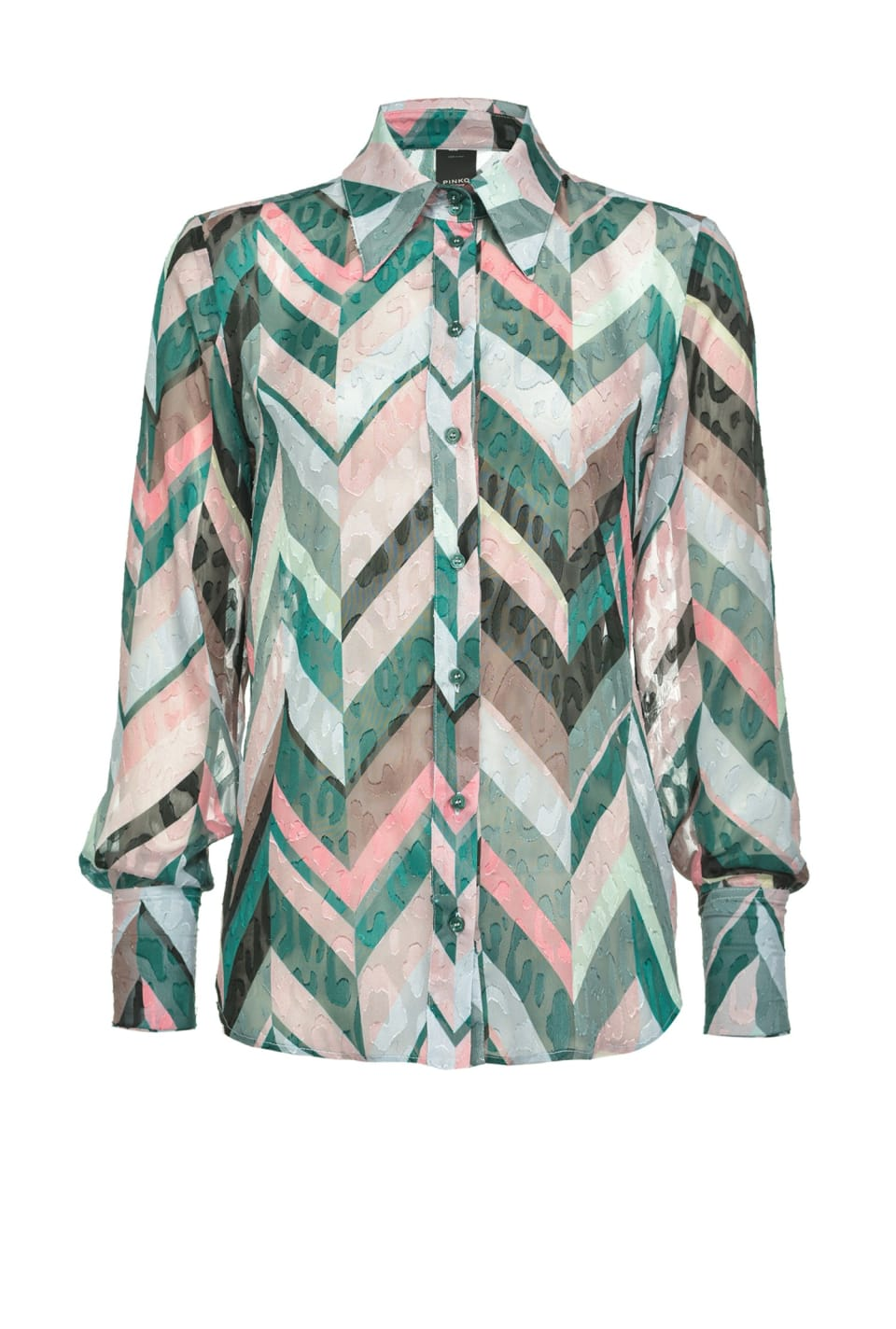 Chevron striped shirt - Pinko