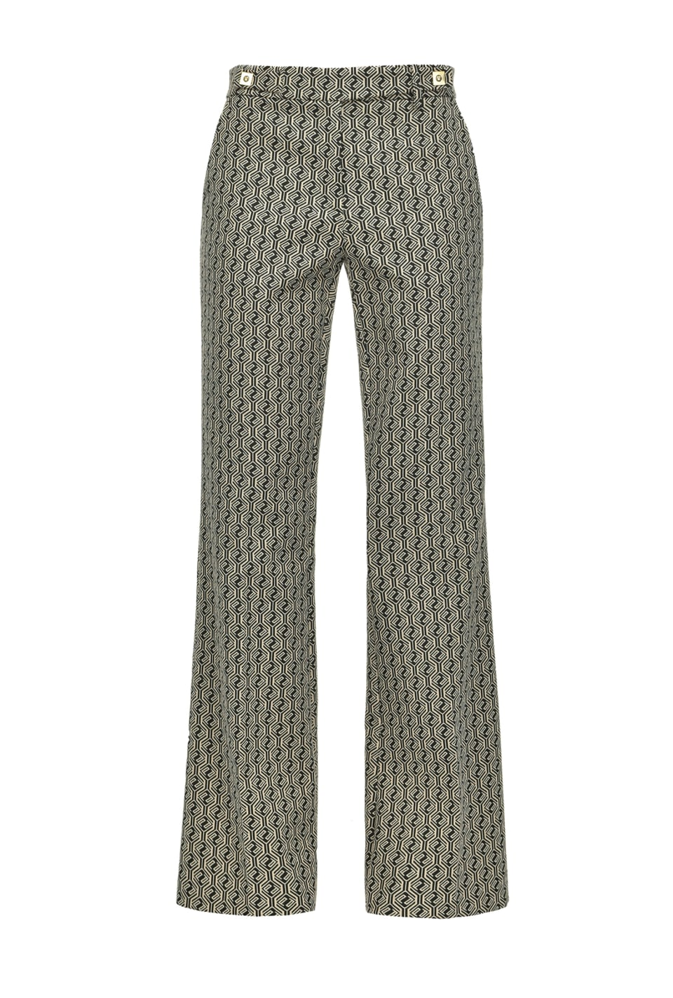 Flared trousers with geometric P logo - Pinko