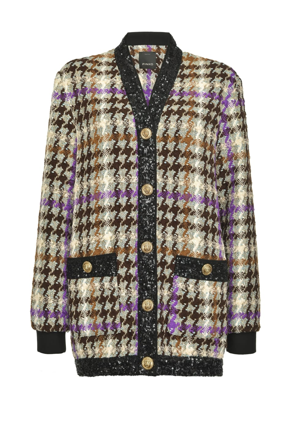 Cardigan-jacket in check hopsack - Pinko