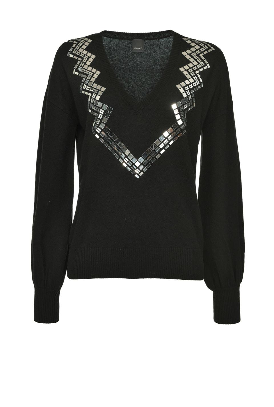 Suéter de cachemira con pequeños espejos - Pinko