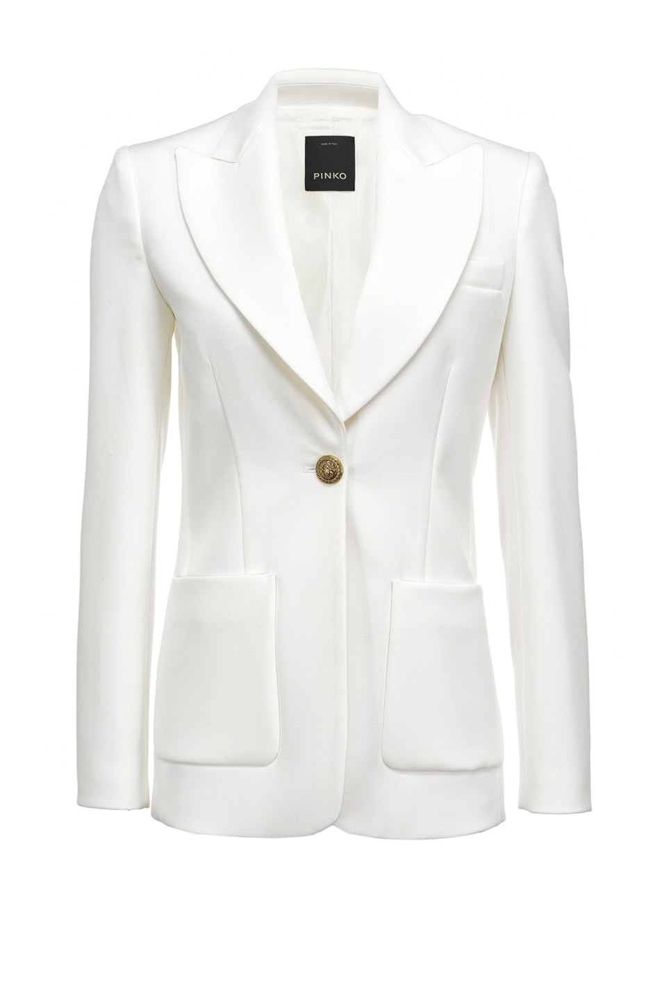 Long blazer with jewel button - Pinko