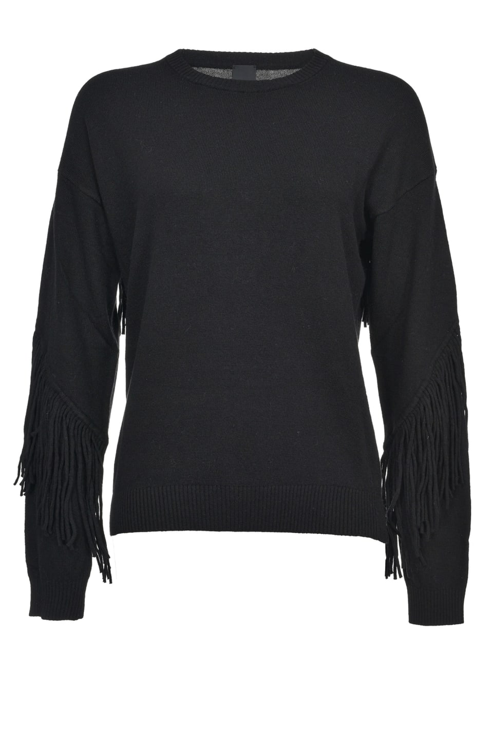 Two-tone pullover with fringe - Pinko